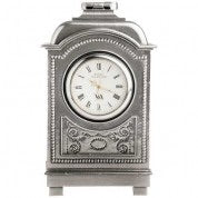 Period Style Pewter Carriage Clock