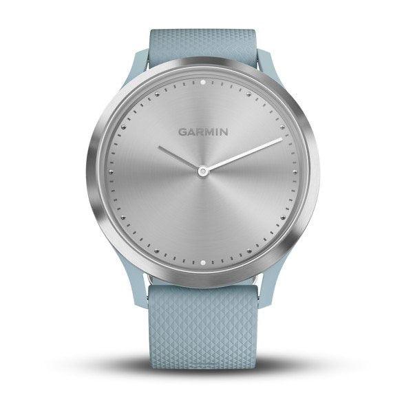 Vívomove HR Silver with Sea Foam Silicone Band