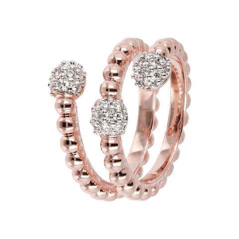 Bronzallure Torc Rose Gold Ring