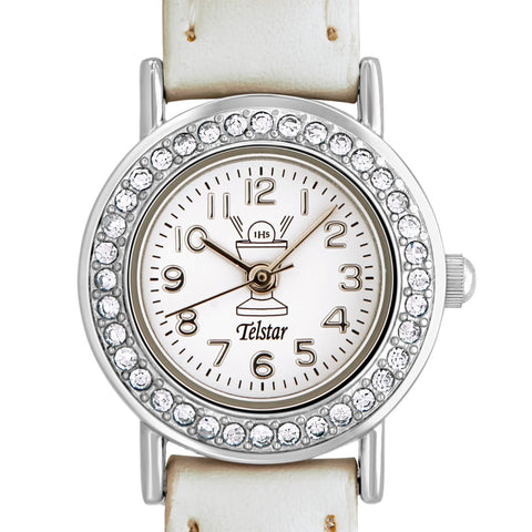 Telstar Girl's First Communion Watch Crystal Set Bezel
