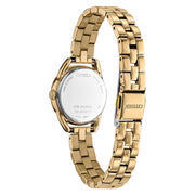 CITIZEN ECO DRIVE SILVER DIAL GOLD PLATED BRACELET WATCH