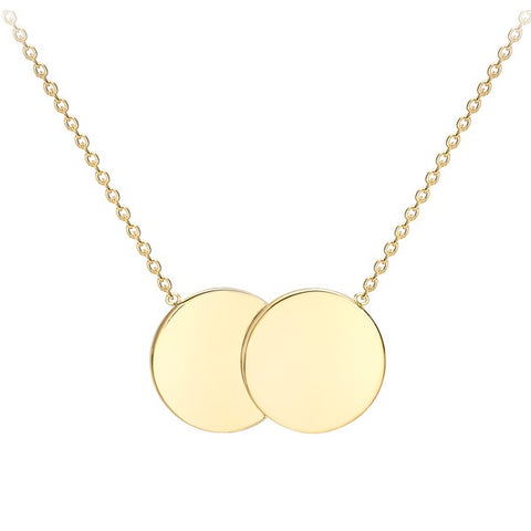 "9ct Double Disc With 18"" Chain"