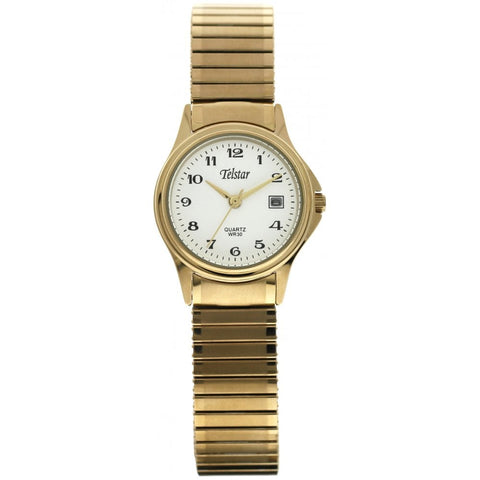 Telstar Ladies Gold Expander Watch