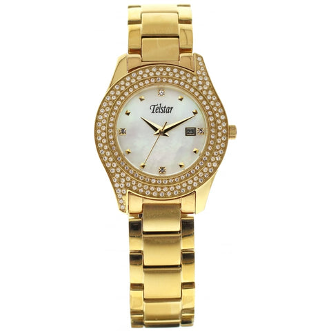 Telstar Ladies Yellow Gold Plated Bracelet Watch