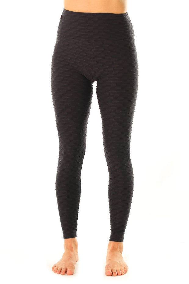 Mid-Rise Legging Black, Textured Coolform.