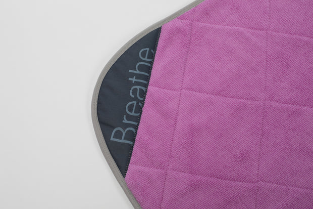 "Pink Breathe Mat w/ Grey Bias 72"" Regular"