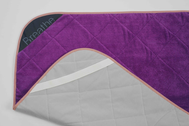 "Plum Breathe Mat w/ Peach Bias 80"" Long"