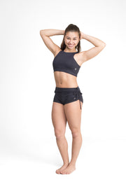 Side String Shorts Black Eco