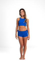 Side String Shorts  Royal Blue