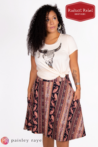 Paisley Raye Bloom Skirt, Radiant Rebel Boutique