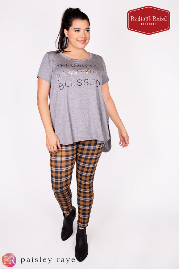 Paisley Ray Thankful Grateful Blessed Graphic Tee, Radiant Rebel Boutique