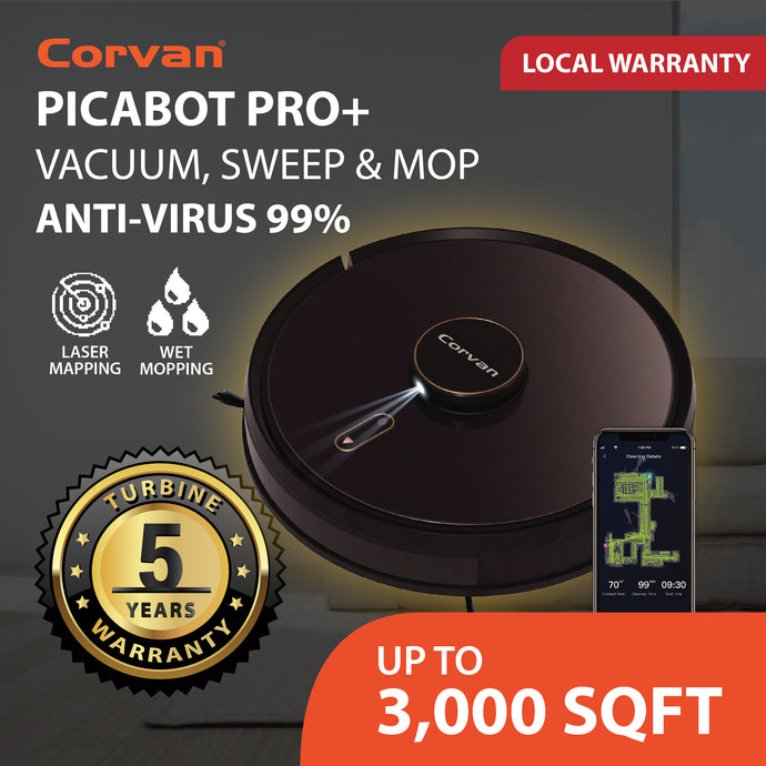 Corvan picaBot Pro+ Smart Robot Vacuum and Mop App-Connectivity