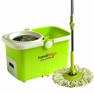 Handimop Square2T Spin Mop [Official by Corvan] 2 Mop Heads Included