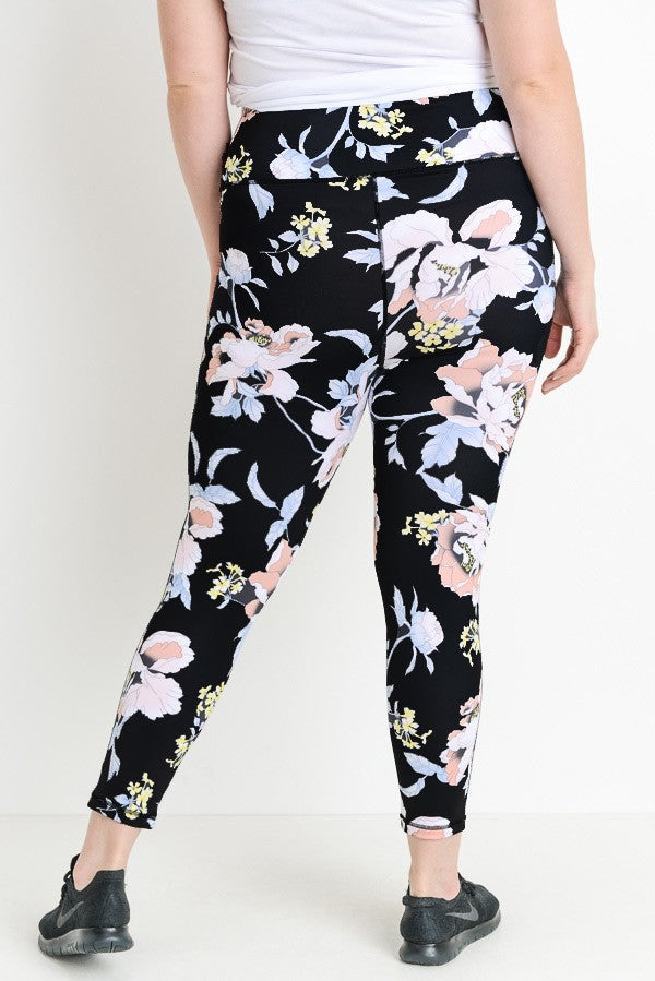 Flower Power Active High Waist Leggings