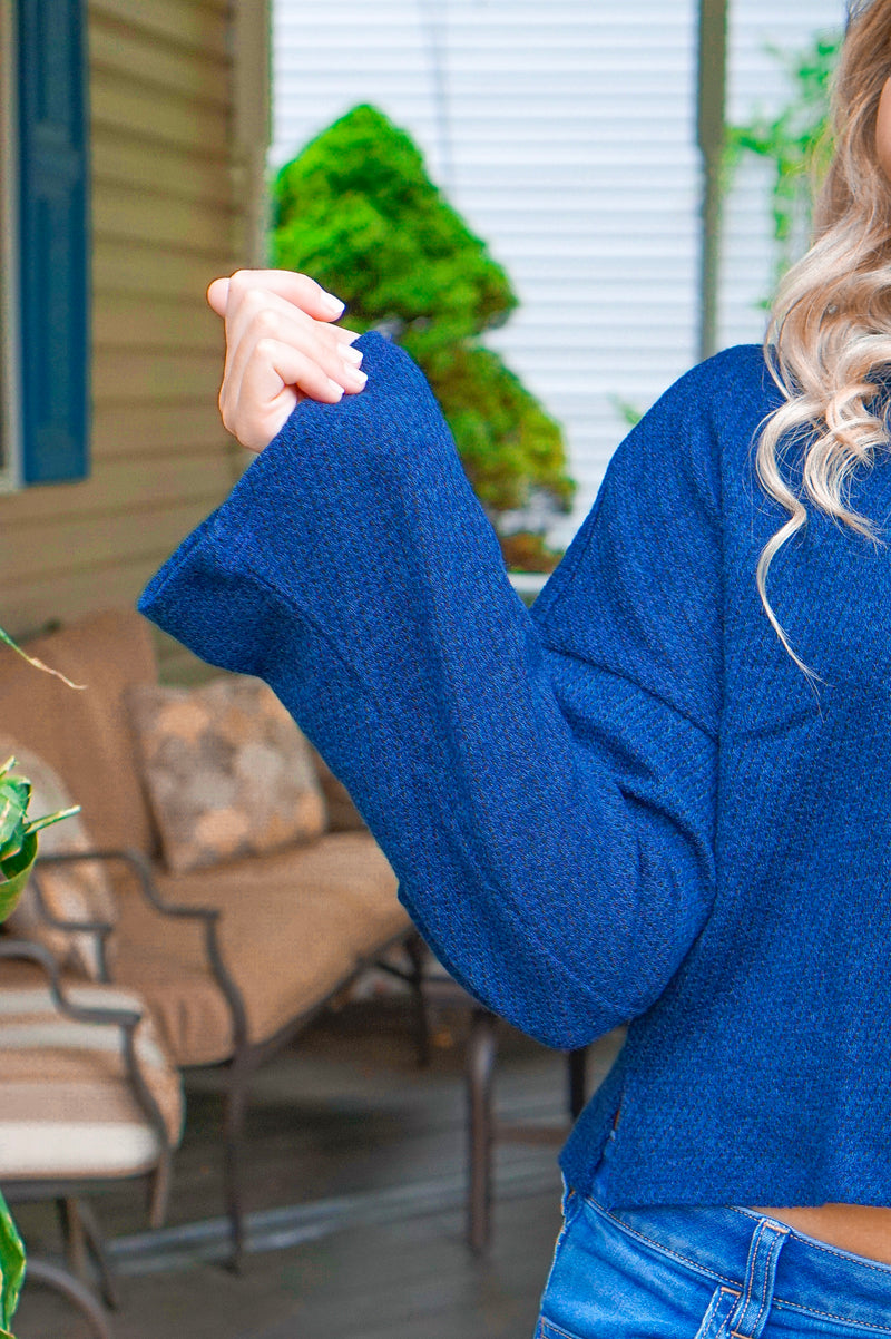 Midnight Chic Mockneck Sweater