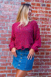 Burgundy Funfetti Sweater