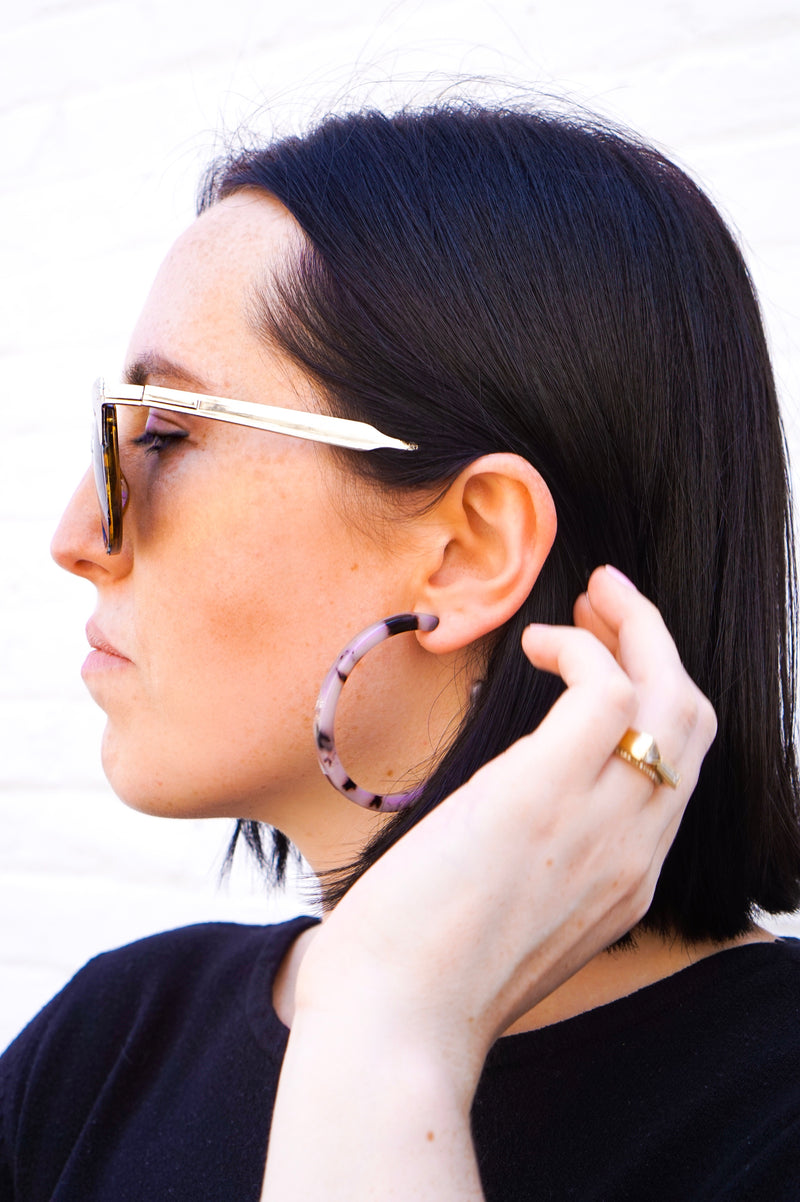 Totally Tortoise Hoop Earrings