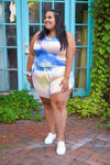 Cotton Candy Tie Dye Curves Shorts