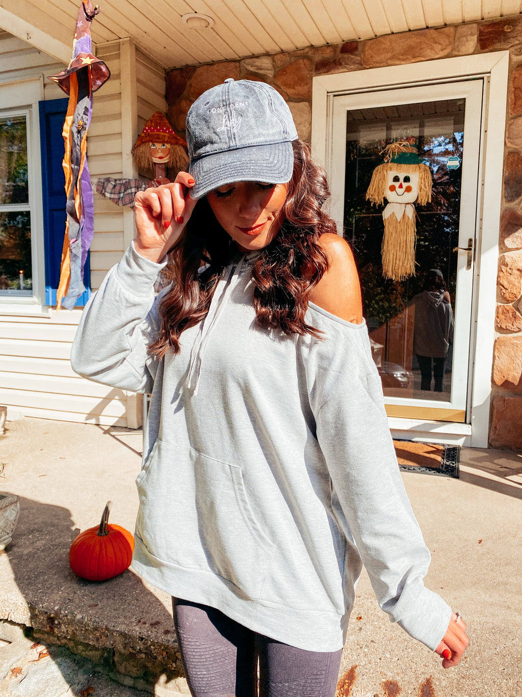 Cold Shoulder Oversized Hoodie