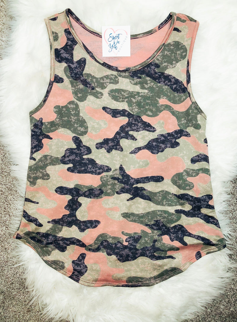 Cute In Camo Tank Top