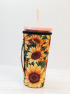 Sunflower Iced Coffee Insulated Sleeve