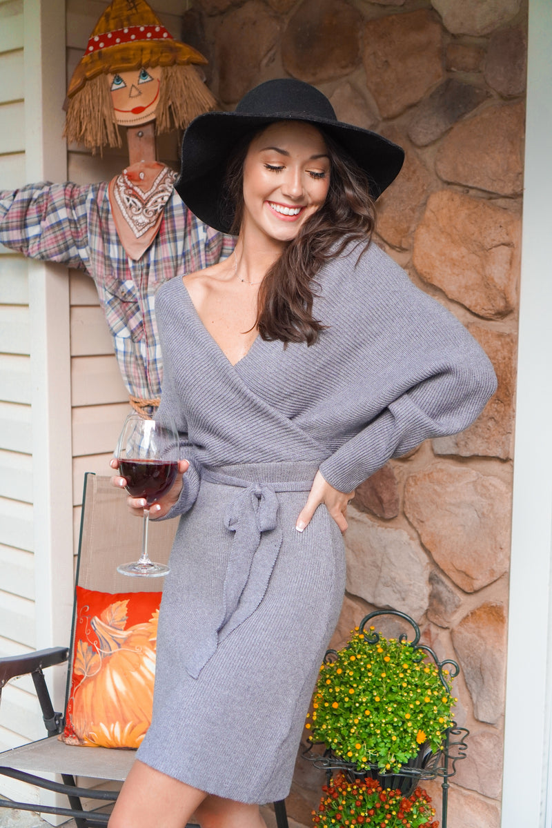 Home For The Fallidays Sweater Dress