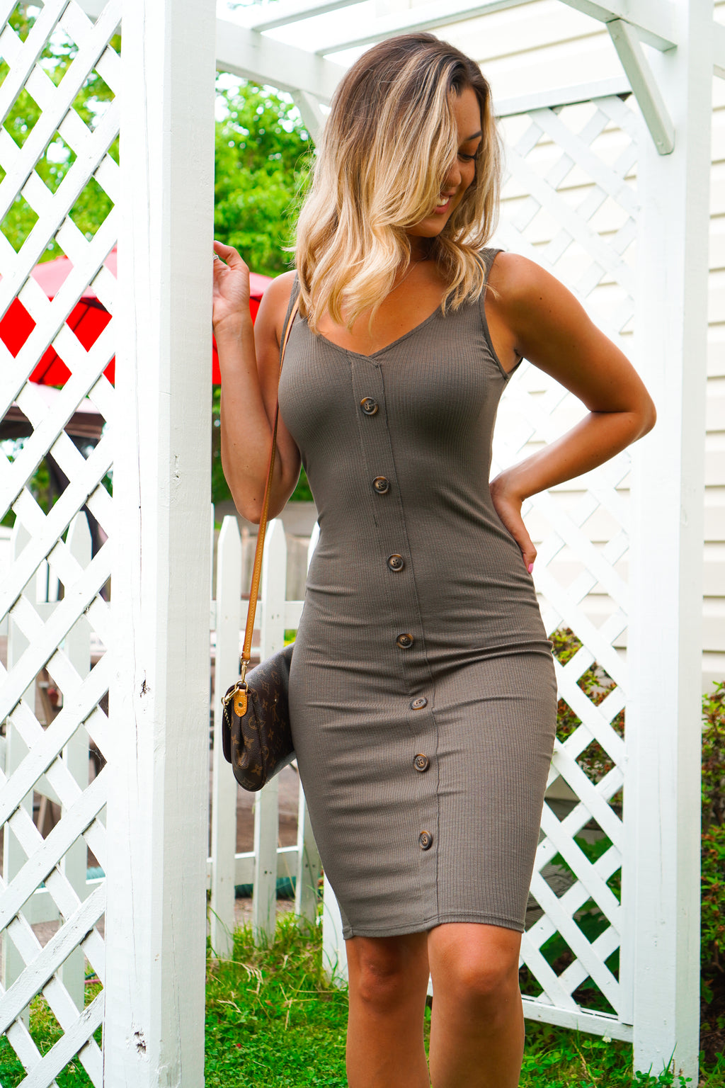 Boss Babe Button Dress