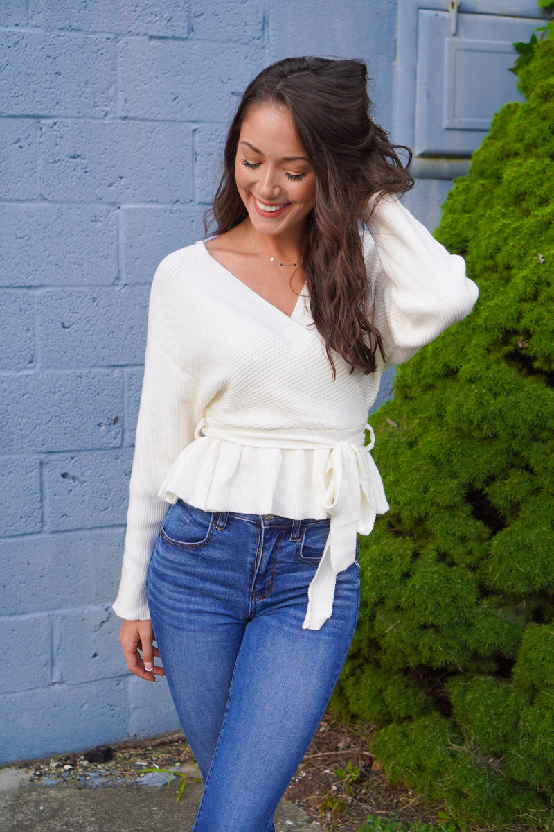 Loved By You Peplum Sweater
