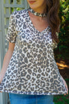 Keep It Pawsitive Leopard Top