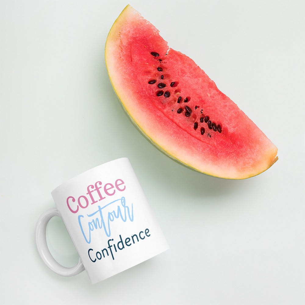 Coffee, Contour, & Confidence Mug