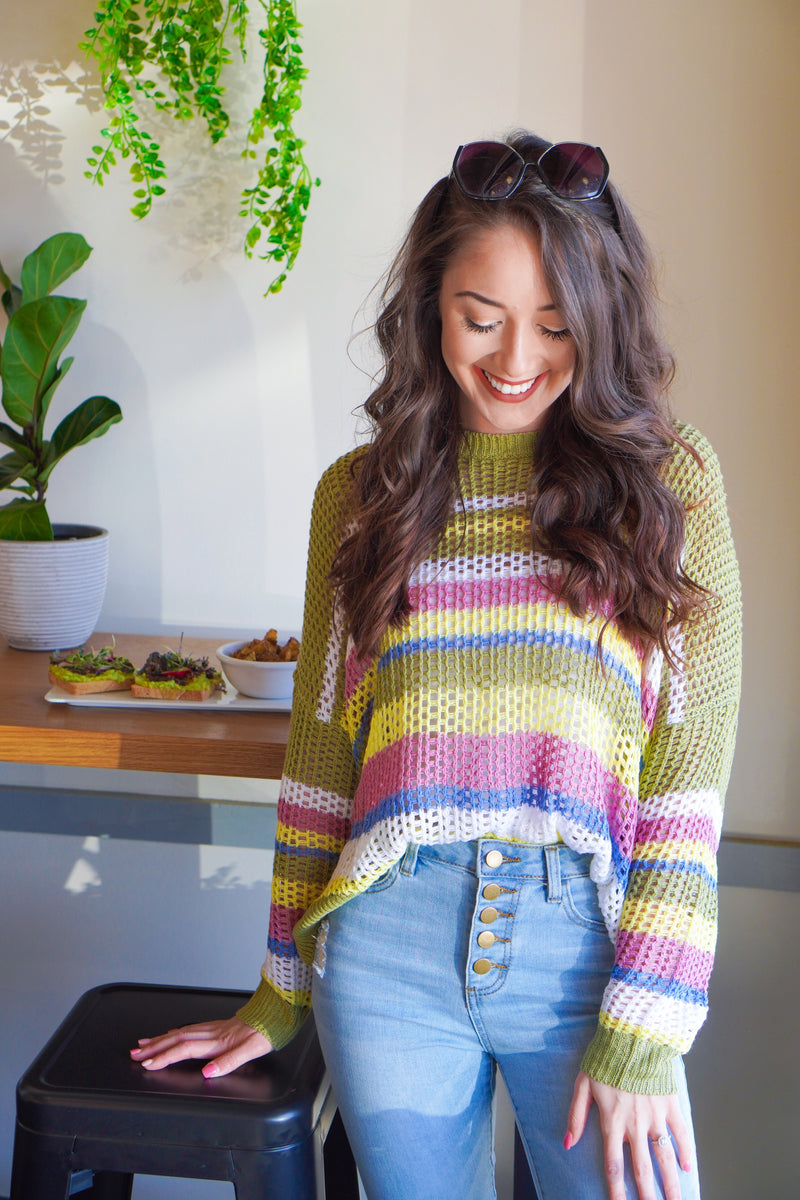 Avocado Toast Knit Top