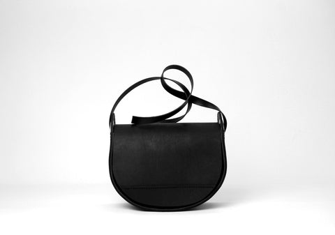 Crescent Handbag black on black
