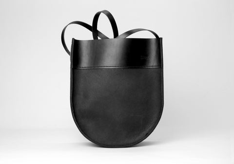 Crescent Tote Black on Black
