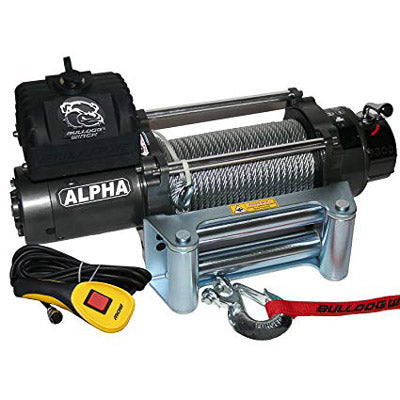 Bulldog Winch 9300lb Alpha Series Winch with 100ft Wire Rope