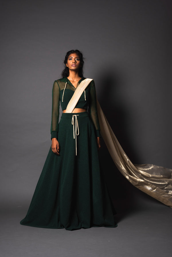 Starling Green Arrow Lehenga