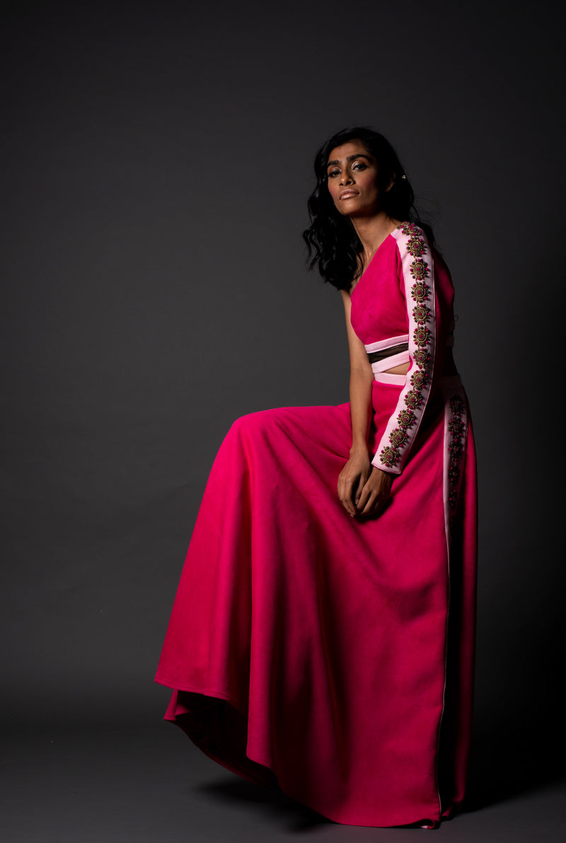 Rimini Pink Suede Gown