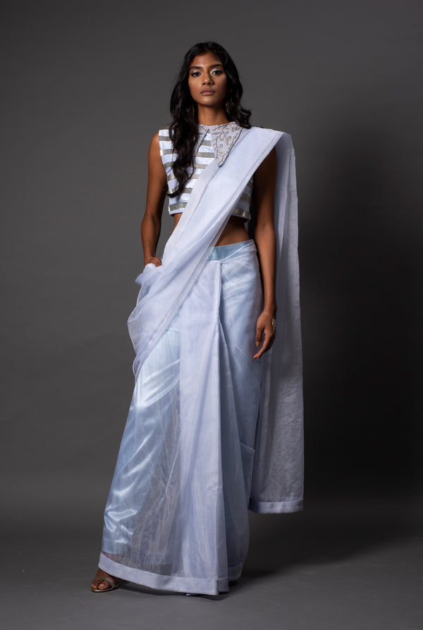 Bari Powder Pant Saree