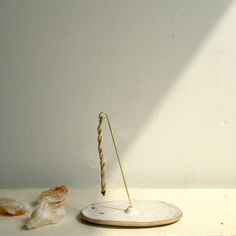 ceramic rope incense burner