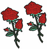 Large Rose Iron-On Patch
