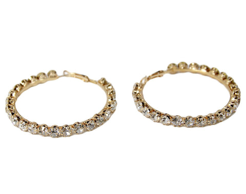 Diamante Hoop Earrings curvaceous fashion  hoops