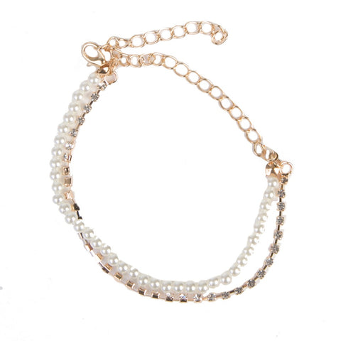 Pearl Anklet & Chain Anklet curvaceous fashion anklets fashion anklets