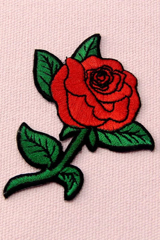 Rose Iron-On Patch