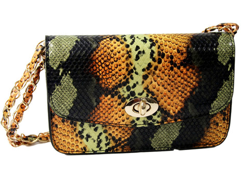 Snake Print Body Cross Bag curvaceous fashion autumn bag #ootd on trend