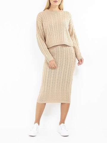 Cable Knit Co-Ord Set