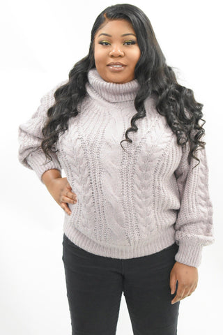 curvaceous fashion jumper knitted large winter curvaceous fashion purple stylish polo neck