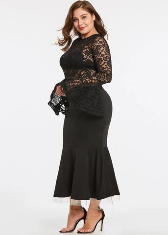 Empire See-Through Lace Dress