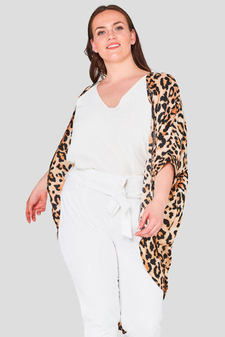 Animal Print Satin Shrug curvaceous fashion shrug autumn cover up