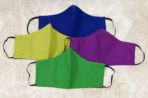 Plain Face Masks 4 Pack