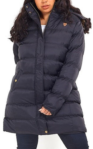 Long Faux Fur Puffer Coat