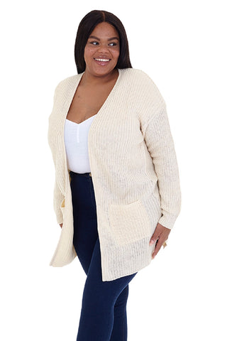 Long Fisherman Rib Cardigan